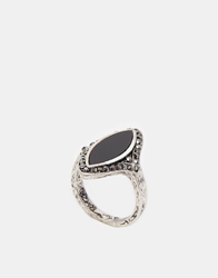 Asos Diamond Shape Stones Ring Black