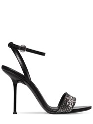 Alexander Wang 105Mm Jane Embellished Leather Sandals Black