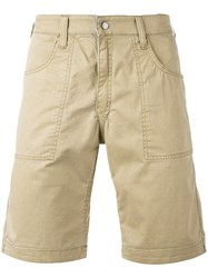 Jacob Cohen Chino Shorts Men Cotton Spandex Elastane 44 Nude Neutrals