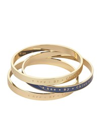 See By Chloe See By Chloe Enamel Bangle Stack Set Of 3 Female Gold
