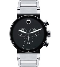 Movado 0606800 Sapphire Synergy Stainless Steel Watch Black