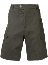 Les Hommes Cargo Shorts Green