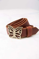Urban Outfitters Butterfly Belt Brown