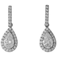 Jools By Jenny Brown Pave Set Bar And Tear Drop Earrings