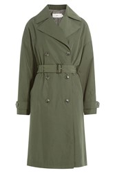 Closed Belted Coat Green