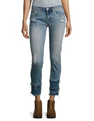 Blank Nyc One Take Wonder Distressed Cropped Jeans Blue