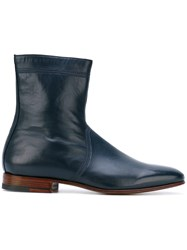 Carvil Dylan Boots Men Leather Kid Leather 8.5 Blue