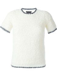 Rochas Short Sleeve Knit Top Nude And Neutrals