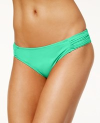 Sundazed Viva Ruched Hipster Bikini Bottoms Women's Swimsuit Aqua Quartz
