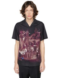 Lanvin The Refinery Print Cotton Bowling Shirt