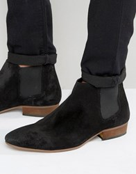 Kg By Kurt Geiger Ankle Chelsea Boots In Black Suede Black