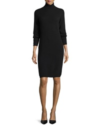 Neiman Marcus Cashmere Collection Cashmere Long Sleeve Turtleneck Dress Women's