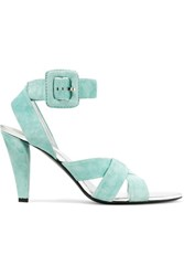 Roger Vivier Suede Sandals Light Green