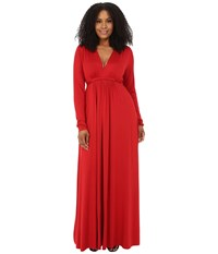 Rachel Pally Plus Plus Size Long Sleeve Full Length Caftan White Label Rosso Women's Clothing Red