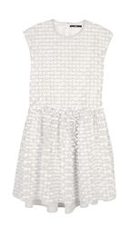 Tibi Ribbon Fil Coupe Drop Waist Dress