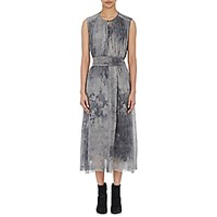 Pas De Calais Women's Shirred Gauze Dress Dark Grey