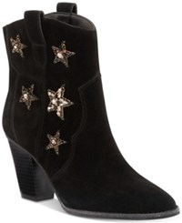 Inc International Concepts Anna Sui X Dazzlerr Western Ankle Booties Created For Macy's Women's Shoes Black