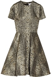 Alice By Temperley Venice Metallic Snake Jacquard Mini Dress