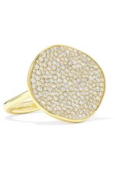 Ippolita Stardust Flower 18 Karat Gold Diamond Ring 6