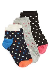 Happy Socks Dot 3 Pack Ankle Assortment
