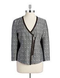 Dkny V Neck Blazer Black