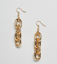 Glamorous Gold Chain Link Drop Earrings