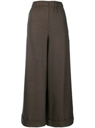 Daniela Gregis High Waisted Wide Trousers Brown