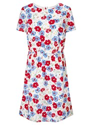 John Lewis Collection Weekend By Dobby Floral Dress Ivory Multi