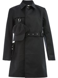 Matthew Miller Cap Detail Trench Coat Black