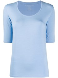 Majestic Filatures Scoop Neck Slim Fit T Shirt Blue