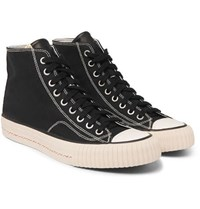 Visvim Skagway Canvas High Top Sneakers Black