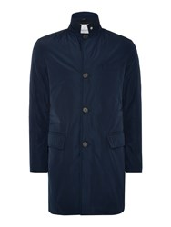 Peter Werth Men's Standard Wadded Memory Overcoat Navy