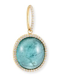 Dominique Cohen 18K Blue Green Tourmaline And Diamond Pendant