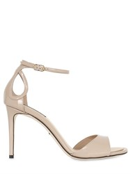 Dolce And Gabbana 85Mm Patent Leather Sandals