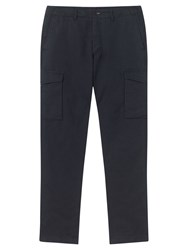 Jigsaw Linen Cotton Cargo Slim Trousers Petrol