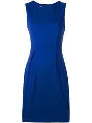 Love Moschino Pleat Detail Dress Blue