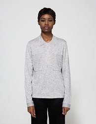 Just Female Polo Zip Knit In Grey