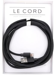 Le Cord Two Meter Apple Cable Black