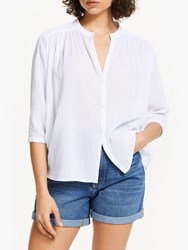 And Or Kate Batwing Stripe Shirt White