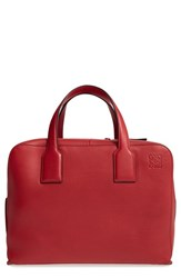 Loewe 'Goya' Calfskin Leather Satchel Red