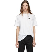 Saint Laurent White Radio Print T Shirt