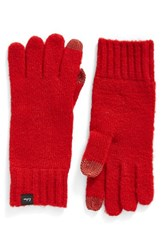 Echo Women's 'Touch' Stretch Fleece Tech Gloves Painter Red