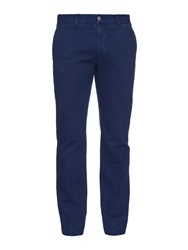 Massimo Alba Textured Cotton And Wool Blend Chino Trousers
