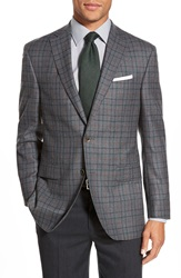 David Donahue 'Connor' Classic Fit Check Wool Sport Coat Grey