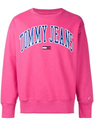 Tommy Jeans Embroidered Logo Sweatshirt Pink