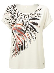Gerry Weber Placement Print T Shirt White