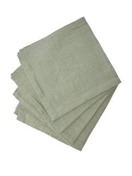 Once Milano Linen Napkin Set Light Green