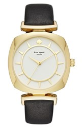 Kate Spade Women's New York Barrow Leather Strap Watch 34Mm Black White