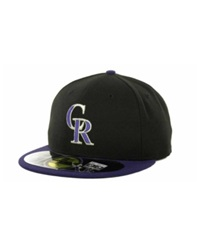 New Era Colorado Rockies Authentic Collection 59Fifty Hat Black Purple