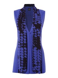 Tigi Sleeveless Cardigan Blue